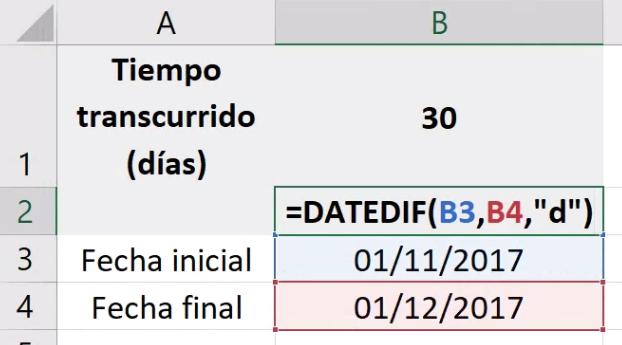 Ejemplos de la función DATEDIF (SIFECHA) en Excel