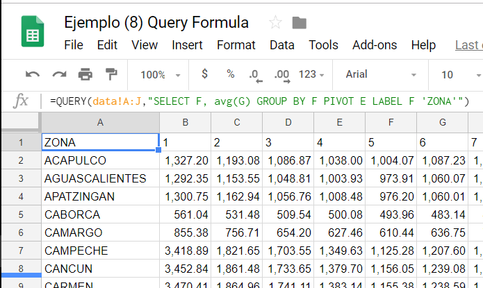 La fórmula QUERY en Google Sheets - Business Intelligence MX