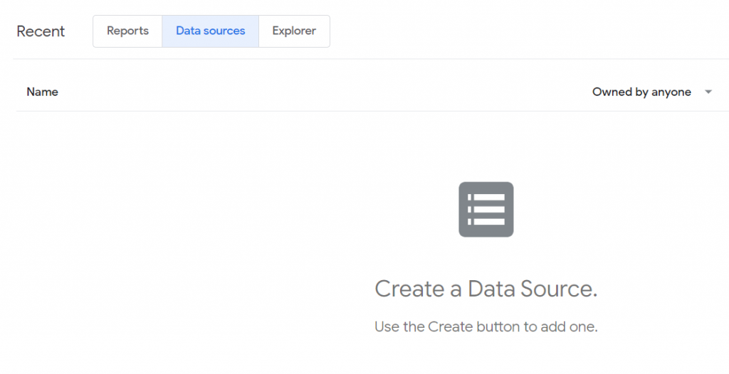 Google Data Studio data sources