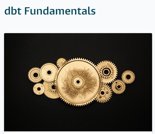 dbt fundamentals